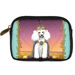 White Poodle Prince Digital Camera Leather Case