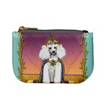 White Poodle Prince Mini Coin Purse
