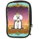 White Poodle Prince Compact Camera Leather Case