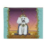 White Poodle Prince Cosmetic Bag (XL)