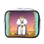 White Poodle Prince Mini Toiletries Bag (One Side)