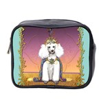 White Poodle Prince Mini Toiletries Bag (Two Sides)