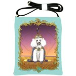 White Poodle Prince Shoulder Sling Bag