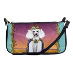 White Poodle Prince Shoulder Clutch Bag