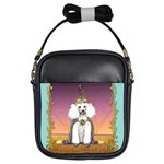 White Poodle Prince Girls Sling Bag