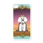 White Poodle Prince Apple iPhone 4 Case (White)