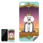 White Poodle Prince Apple iPhone 4 Skin