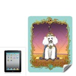 White Poodle Prince Apple iPad Skin