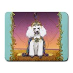 White Poodle Prince Small Mousepad