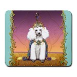 White Poodle Prince Large Mousepad