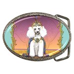 White Poodle Prince Belt Buckle