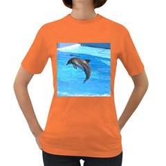 Jumping Dolphin Women s Dark T Shirt by dropshipcnnet