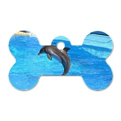 Jumping Dolphin Dog Tag Bone (two Sides)