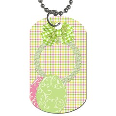 Eggzactly Spring 2 Sided Dog Tag 1 By Lisa Minor   Dog Tag (two Sides)   Jtyqanzl1ls6   Www Artscow Com Front