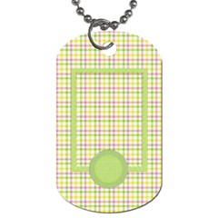 Eggzactly Spring 2 Sided Dog Tag 1 By Lisa Minor   Dog Tag (two Sides)   Jtyqanzl1ls6   Www Artscow Com Back
