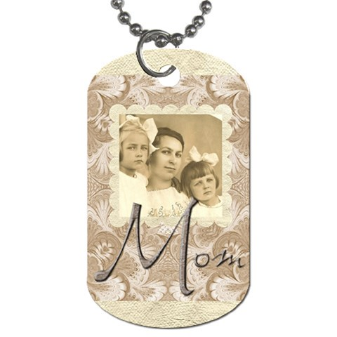 Mom Single Sided Dogtag By Catvinnat   Dog Tag (one Side)   Isevt9qvueuz   Www Artscow Com Front