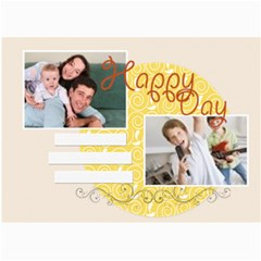 Happy Day By Joely   5  X 7  Photo Cards   Fxrzi60a8fof   Www Artscow Com 7 x5 Photo Card - 7