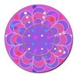 Flower mosepad - Round Mousepad