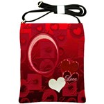 Red Love Heart Sling Bag - Shoulder Sling Bag