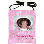 Live Every Day Hearts n Roses Sling Bag - Shoulder Sling Bag