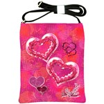 Hearts n Flowers Pink Sling Bag - Shoulder Sling Bag