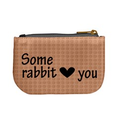 Some Rabbit Love You 2   Mini Coin Purse By Carmensita   Mini Coin Purse   T3sjb0kmgtcj   Www Artscow Com Back