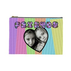 Friends   Custom Cosmetic Bag (large) By Carmensita   Cosmetic Bag (large)   0l71vusjalq1   Www Artscow Com Front
