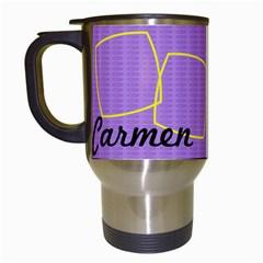 Carmen   Travel Mug By Carmensita   Travel Mug (white)   H4w9o7cu9a0h   Www Artscow Com Left