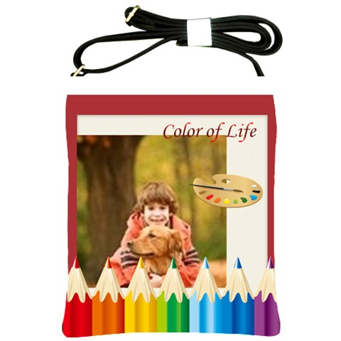 Color Of Life By Wood Johnson   Shoulder Sling Bag   Mcwjimtlzuea   Www Artscow Com Front