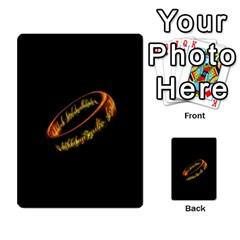 La Compania Del Anillo By Stratosdj   Multi Purpose Cards (rectangle)   8h0i15p7ln1f   Www Artscow Com Front 32