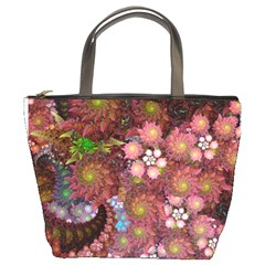Abstract Swirls Pink By Bags n Brellas   Bucket Bag   Akgkvalhnase   Www Artscow Com Front