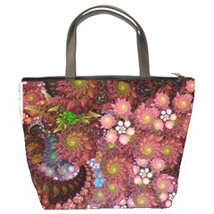 Abstract Swirls Pink By Bags n Brellas   Bucket Bag   Akgkvalhnase   Www Artscow Com Back