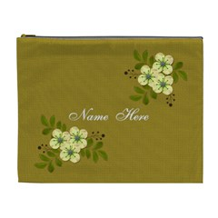 Cosmetic Bag (xl)  Yellow Flowers By Jennyl   Cosmetic Bag (xl)   7nii3oj6n245   Www Artscow Com Front