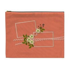 Cosmetic Bag (xl)  Peach Bag By Jennyl   Cosmetic Bag (xl)   Tr91q7thp2bw   Www Artscow Com Front