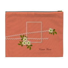 Cosmetic Bag (xl)  Peach Bag By Jennyl   Cosmetic Bag (xl)   Tr91q7thp2bw   Www Artscow Com Back