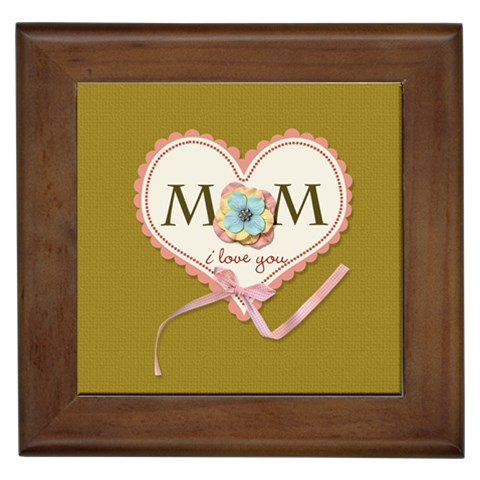 Framed Tile   Mom I Love You! By Jennyl   Framed Tile   1bszxo29g74e   Www Artscow Com Front