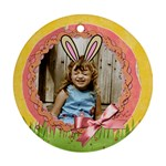 Easter ornament with bunny ears- 2 sides, template - Round Ornament (Two Sides)
