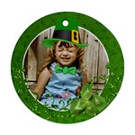 St. Patricks/Irish ornament, 2 sides- template - Round Ornament (Two Sides)