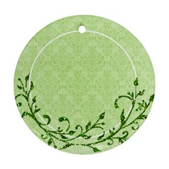 St  Patricks/irish Ornament, 2 Sides  Template By Mikki   Round Ornament (two Sides)   Qausrtpb17x3   Www Artscow Com Back