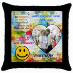 SERP - Throw Pillow Case (Black)
