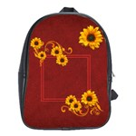 Sunflower school bag - School Bag (Large)