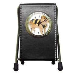 Dog Photo Pen Holder Desk Clock