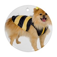 Dog Photo Round Ornament (two Sides)