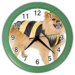 Dog Photo Color Wall Clock