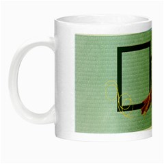 Green Memory Luminous Mug By Elena Petrova   Night Luminous Mug   3zym2c8hmnp9   Www Artscow Com Left