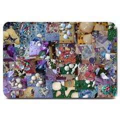Zazzle Images Collage Treasure Boxes Large Doormat