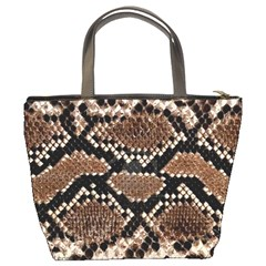 Snake Skin3 Bucket Bag By Bags n Brellas   Bucket Bag   N3xlbgna5caq   Www Artscow Com Back