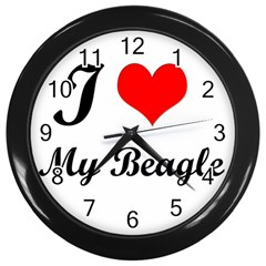 I Love My Beagle Wall Clock (black) by free