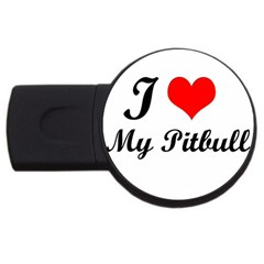 I Love My Beagle Usb Flash Drive Round (2 Gb) by free