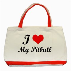 I Love My Beagle Classic Tote Bag (red) by free